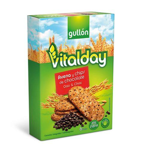 GULLÓN Bolachas Aveia e Pepitas de Chocolate Vitalday 240 g