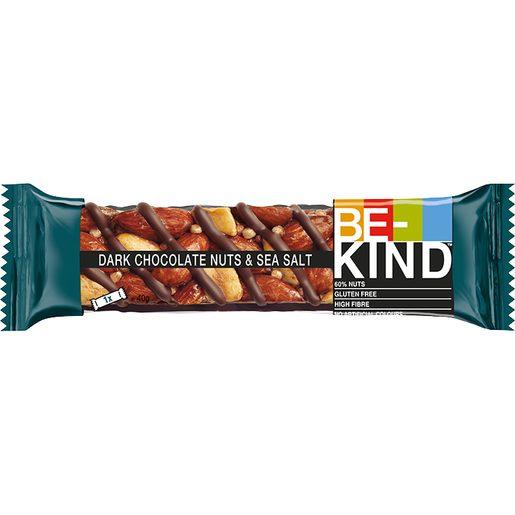 BE-KIND Barra de Frutos Secos com Chocolate Negro e Sal Marinho 40 g