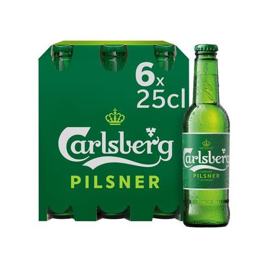 CARLSBERG Cerveja com Álcool 6x250 ml