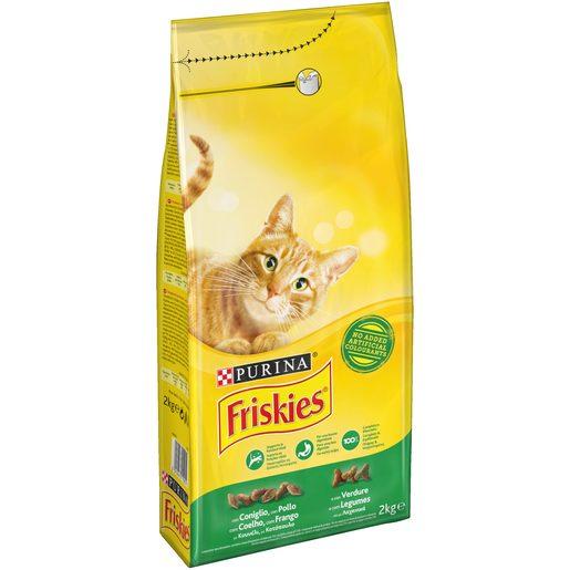 FRISKIES Ração para Gato Adulto com Legumes, Coelho, Frango Purina 2 kg