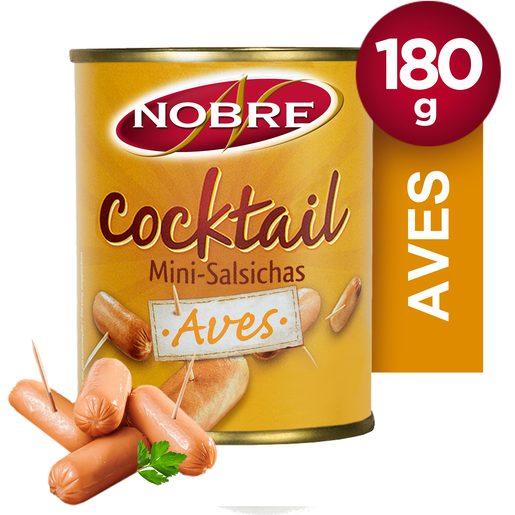 NOBRE Salsichas Cocktail de Aves Lata 180 g