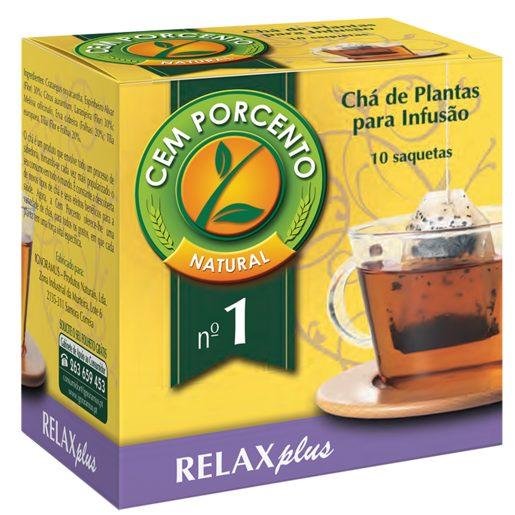 CEM PORCENTO Chá Relaxante/Calmante 13 g