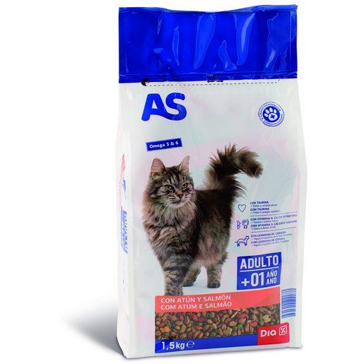 AS Alimentação Seca de Peixe Para Gato Menu Mix 1,5 kg