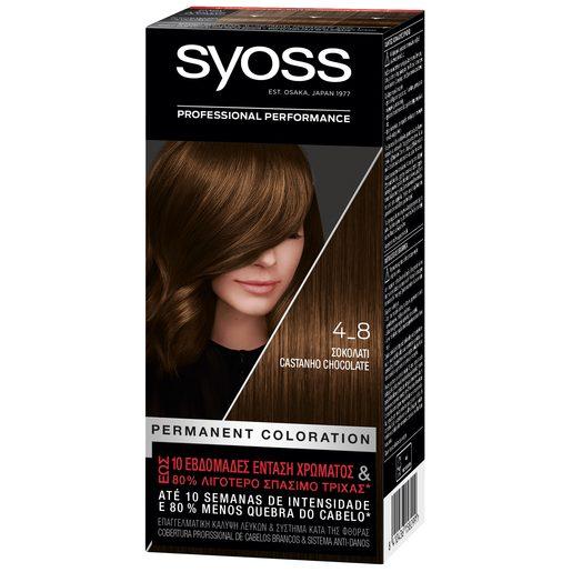SYOSS Coloração 4-8 Castanho Chocolate  1 un