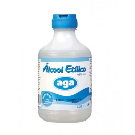AGA Álcool Sanitário 96% 250 ml