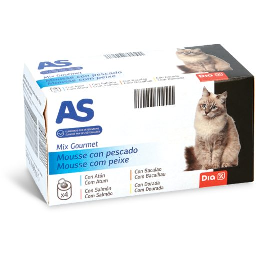 AS Alimento para Gato Mix Gourmet Peixe 340 g