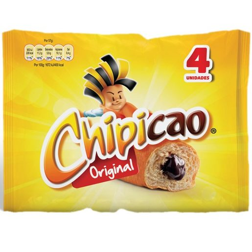 CHIPICAO Bolo com Recheio de Chocolate 4x57 g