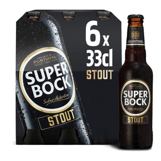 SUPER BOCK STOUT Cerveja com Álcool 6x330 ml