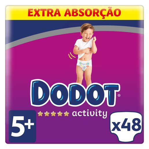 DODOT Fralda Activity Extra T5+ (12-17kg) 48 Un