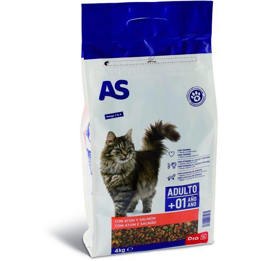 AS Alimentação Seca de Pescado Para Gato Menu Mix 4 kg