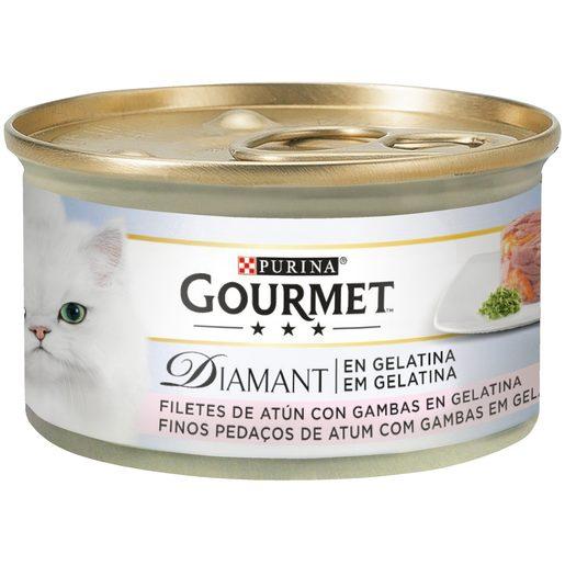 PURINA GOURMET DIAMANT Comida Húmida para Gato Atum com Camarões 85 g