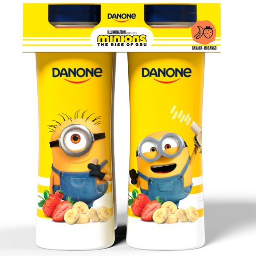 DANONE Iogurte Líquido Banana e Morango Minions 4x155 g