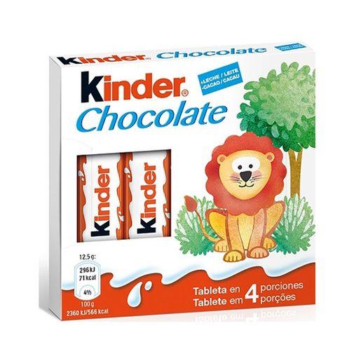 KINDER Barritas de Chocolate Com Leite 4 Un