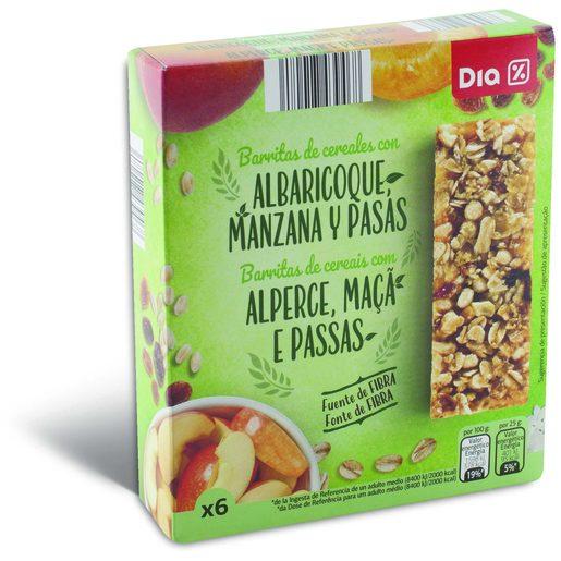 DIA Barritas de Cereais de Maçã E Alperce 150 g