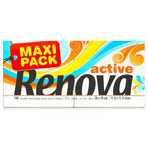 RENOVA Guardanapos Renova Active Maxi Pack  180 un