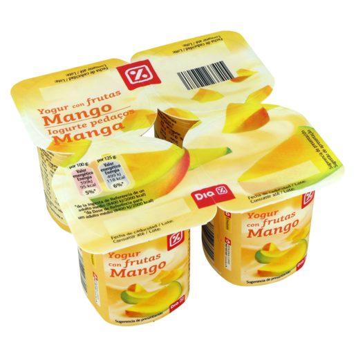 DIA Iogurte Pedaços Manga 4x125 g