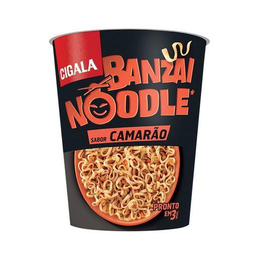 CIGALA Banzai Noodles Sabor a Camarão 67 g