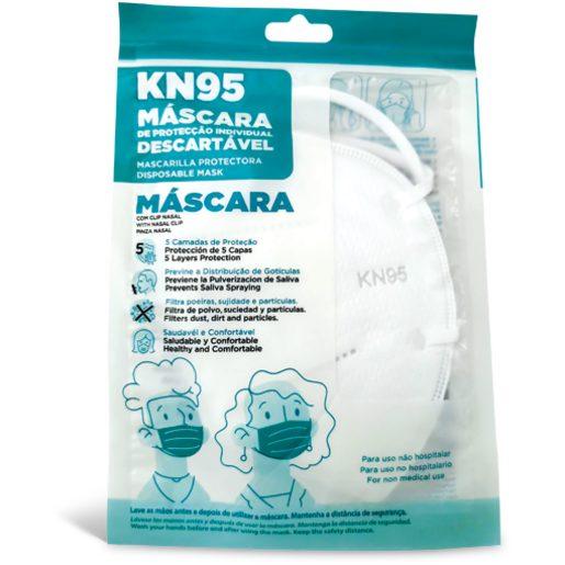Máscara de Proteção Descartável KN95 1 Un