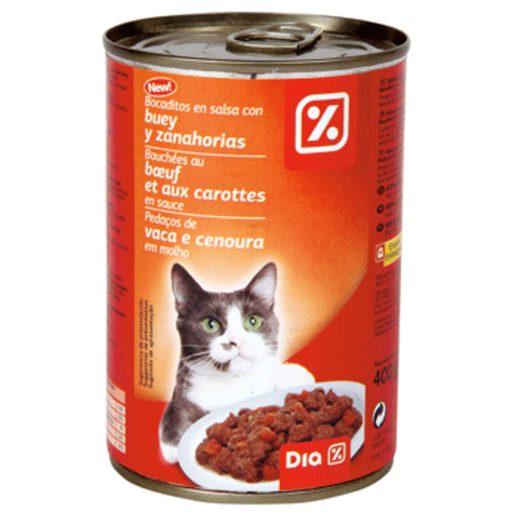 DIA Alimento para Gato com Pedaços Vaca e Cenoura 400 g