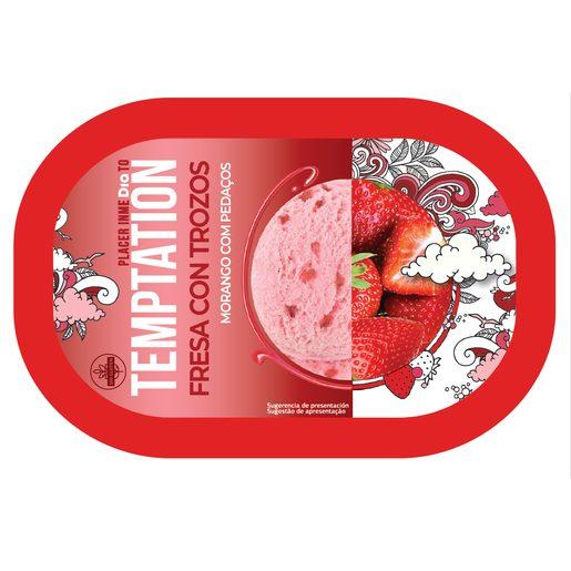 TEMPTATION Gelado de Morango com Pedaços de Morango 1 L