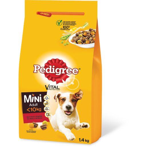 PEDIGREE Alimentos Seco Para Cão Raças Pequenas com Vaca 1,4 kg