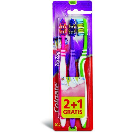 COLGATE Escova de Dentes Zig-Zag 3 Un
