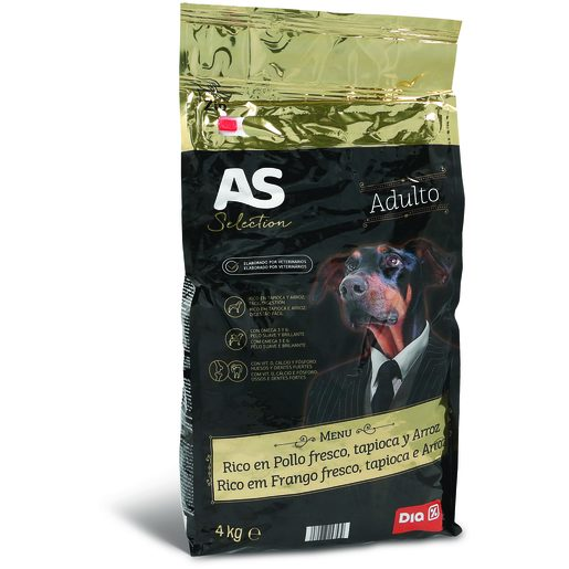 AS SELECTION Alimento Para Cão Adulto Frango 4 kg